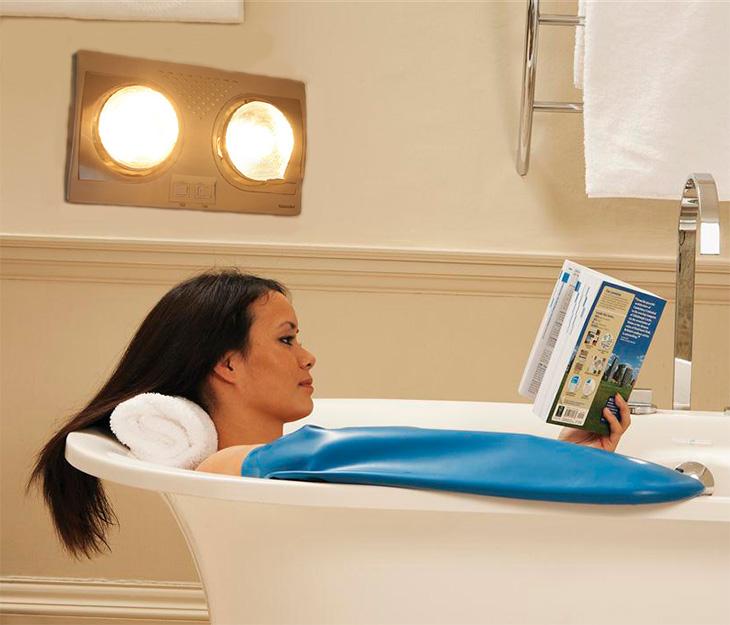 Sử dụng đèn sưởi nhà tắm có ảnh hưởng tới sức khỏe không?