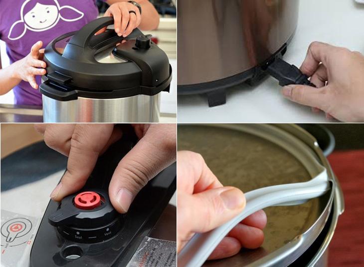 Kiểm tra cẩn trọng nồi áp suất điện trước khi nấu