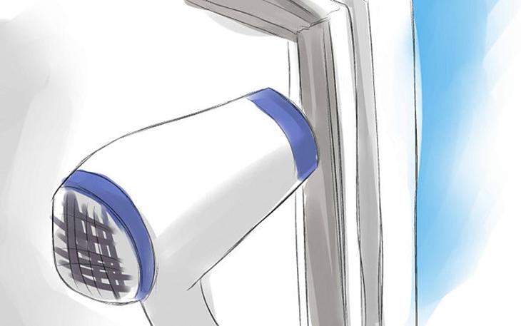 Nếu thấy chỗ nào còn chưa khít, bạn có thể dùng máy sấy tóc để hơ vào chỗ bị hở