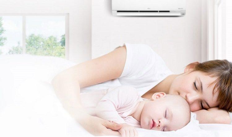 Mẹo dùng điều hòa cho nhà có trẻ sơ sinh vào mùa lạnh
