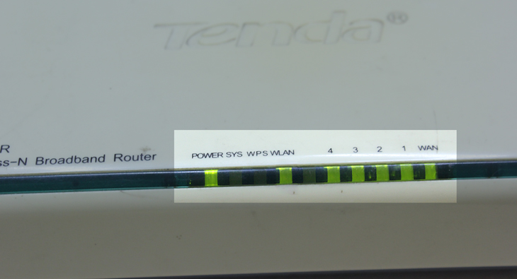Đèn thông báo tình trạng modem/router