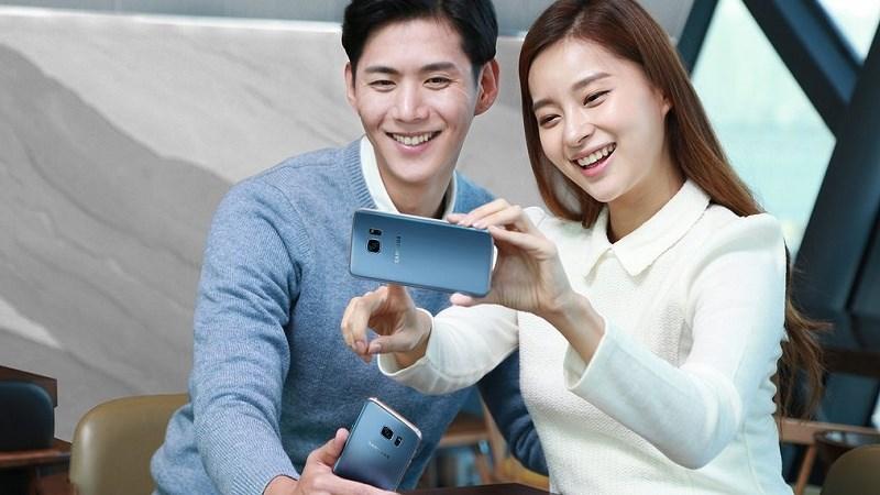Samsung Galaxy S7 Edge màu Xanh Coral