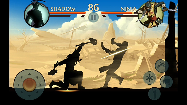 Game Shadow Fight trên Android tivi Sony