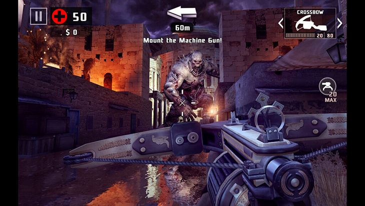Game Dead Trigger trên Android tivi Sony