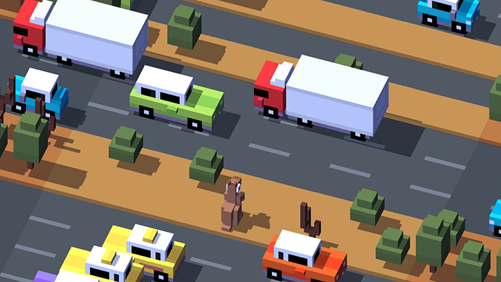 Game Crossy Road trên Android tivi Sony