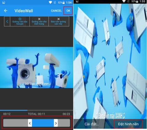 Dùng video làm hình nền điện thoại một vài bước là xong ngay