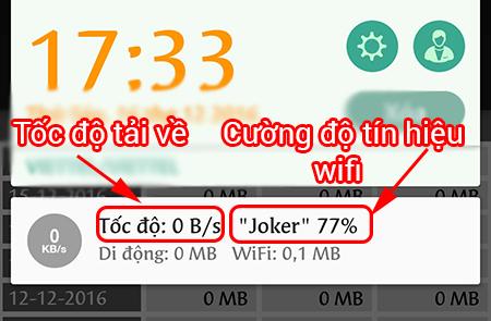 Tốc độ tải về và cường độ tín hiệu wifi