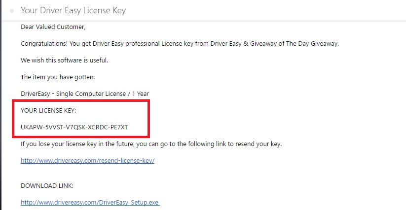 driver easy key