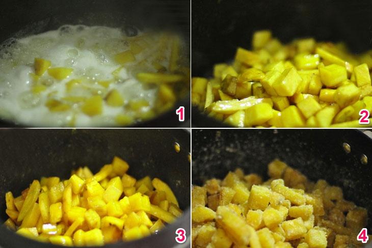 Bước 4 Nấu mứt khoai lang Mứt khoai lang