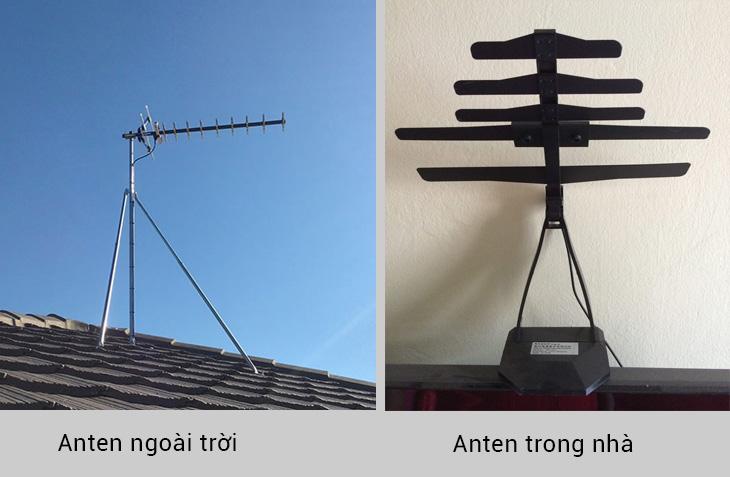 Anten ngoài trời và anten trong nhà
