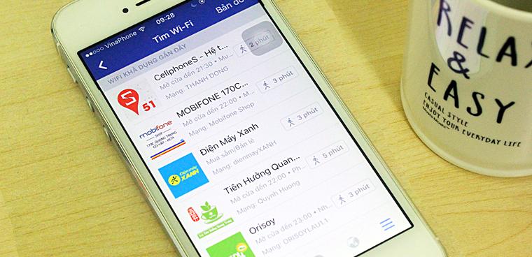 Tim Wifi Miễn Phi Xung Quanh Bạn Bằng Facebook Tren Iphone
