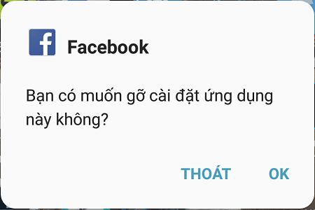 Xóa facebook và messenger trong máy