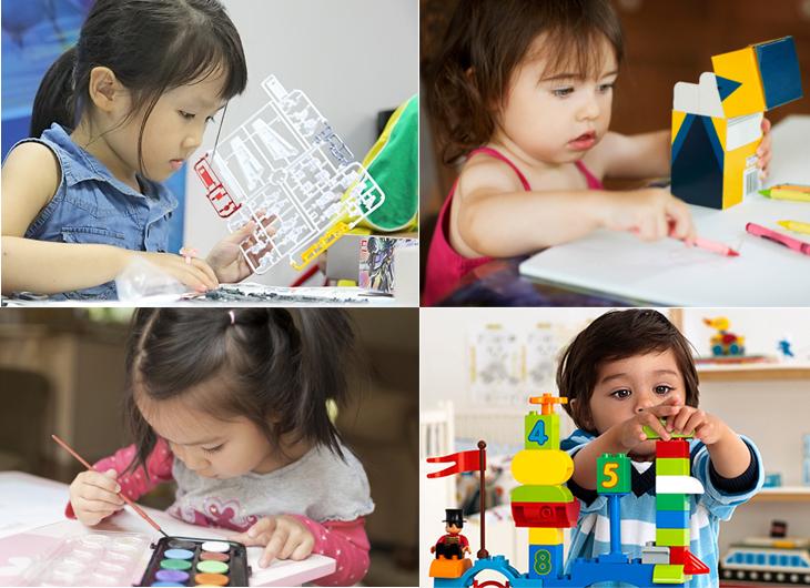 Các trò phát triển tư duy và sự sáng tạo là không thể thiếu cho bé