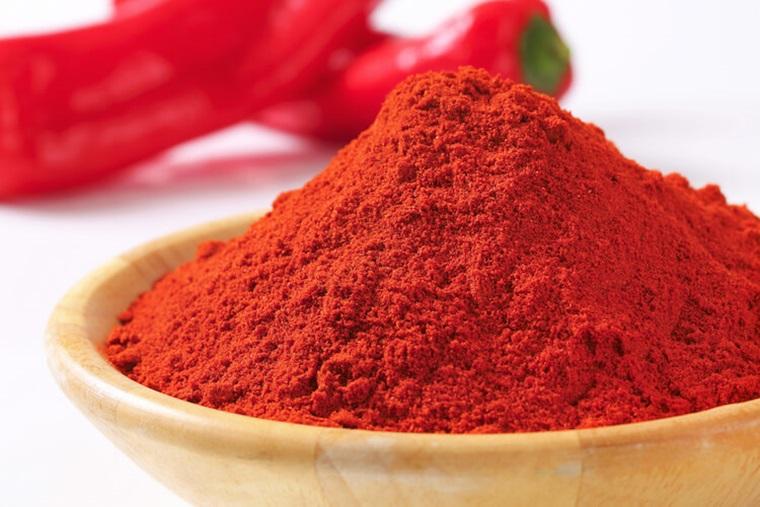 Sử dụng ớt bột