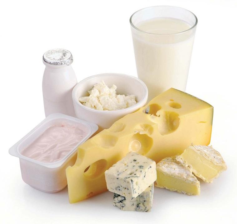 Sử dụng nhiều sữa và sản phẩm từ sữa