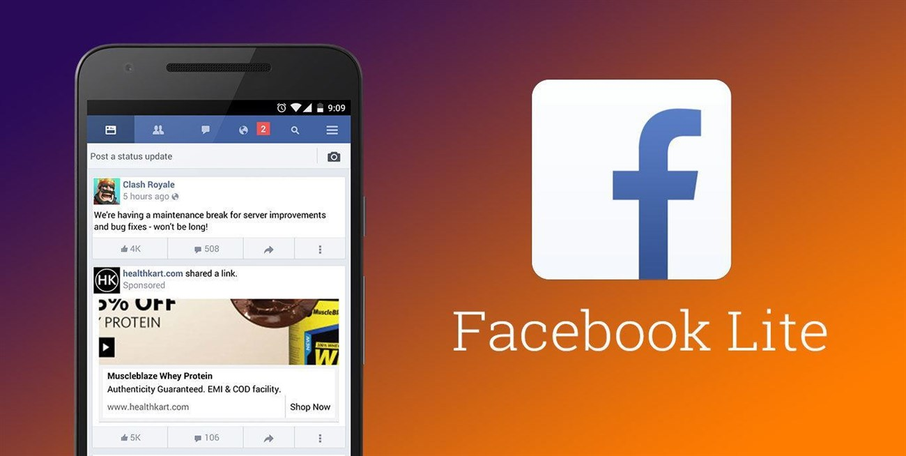 4. Sử dụng Facebook Lite