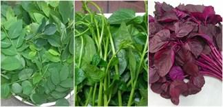 Chọn mua và lưu ý khi ăn rau ngót, rau mồng tơi, rau dền