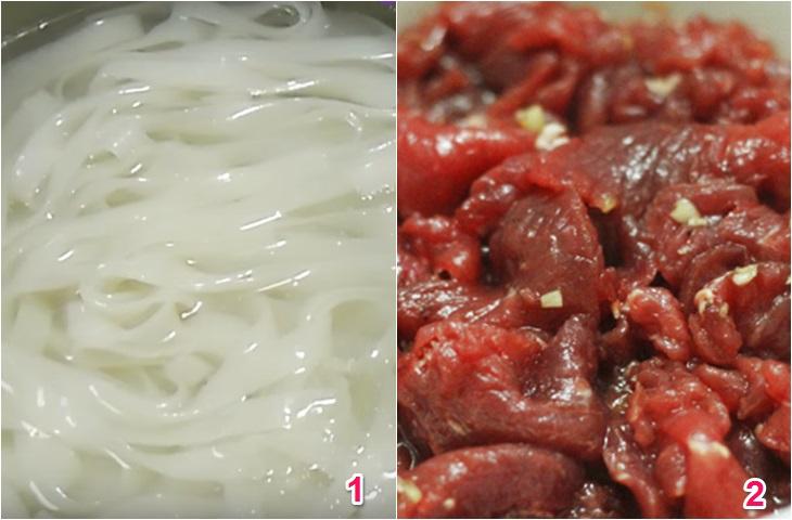 Cách làm phở ăn liền xào thịt bò ngon