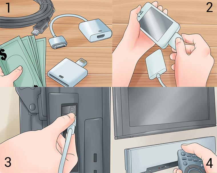 Kết nối iPhone với tivi bằng cáp HDMI