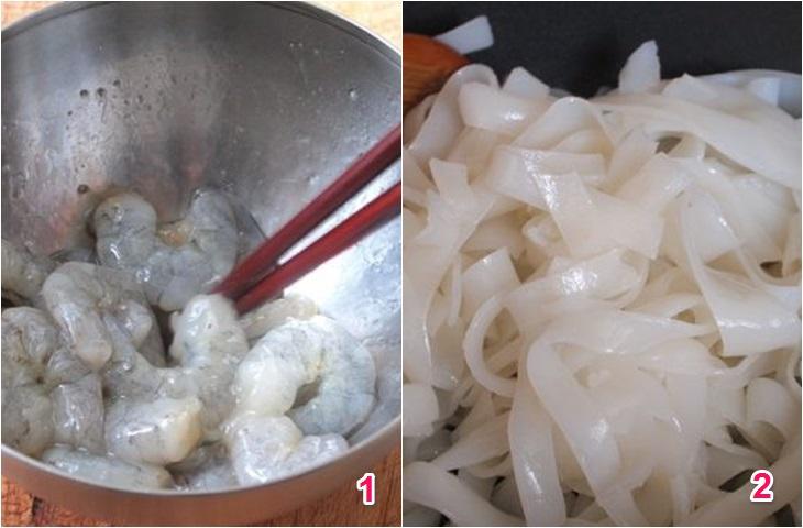 Cách làm phở ăn liền xào tôm trứng đơn giản, ngon miệng