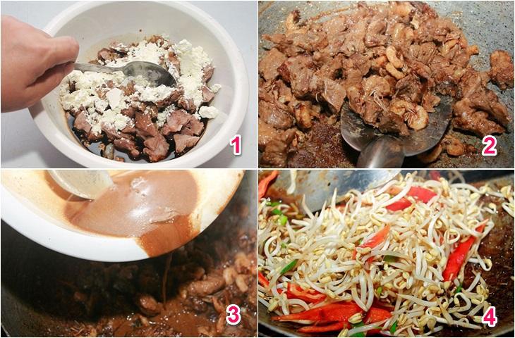 Cách làm bún xào Singapore với bún ăn liền