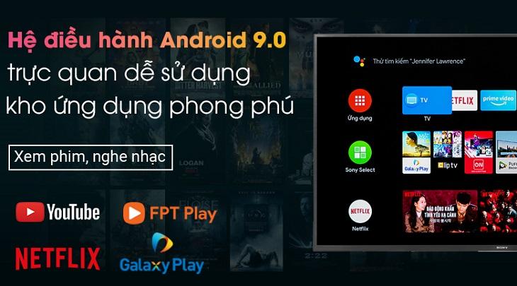 Kho ứng dụng đa dạng trên Android Tivi Sony 4K 55 inch KD-55X8000H