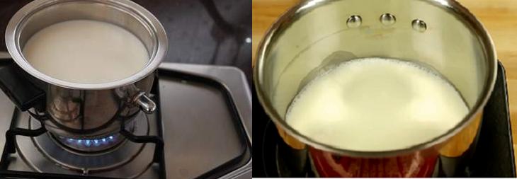Nên đun sữa tươi bằng nồi trên bếp