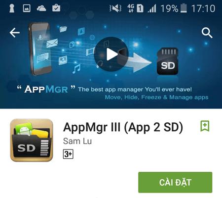 Ứng dụng App2SD