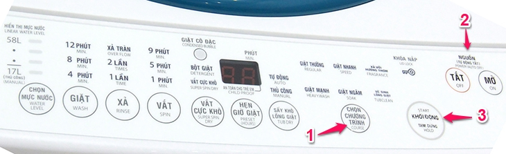 chế độ vệ sinh lồng máy giặt trên các loại máy giặt