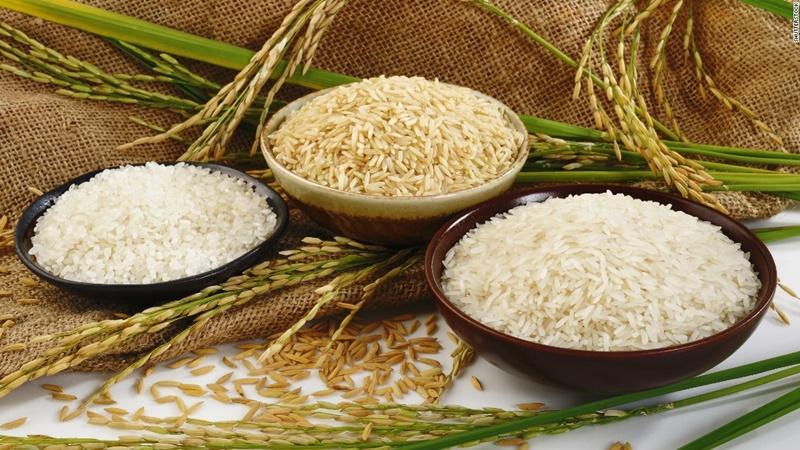 Sử dụng gạo trắng tinh