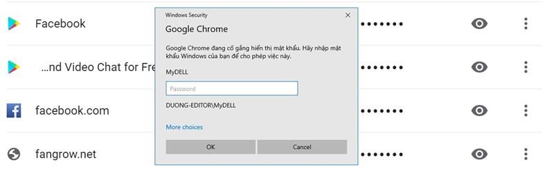 Nếu thấy xuất hiện hộp thông báo này, các hãy nhập mật khẩu Lock screen vào là được