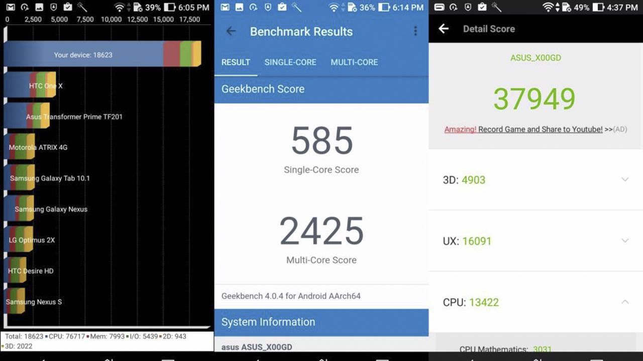 Hiệu năng Asus Zenfone 3s Max