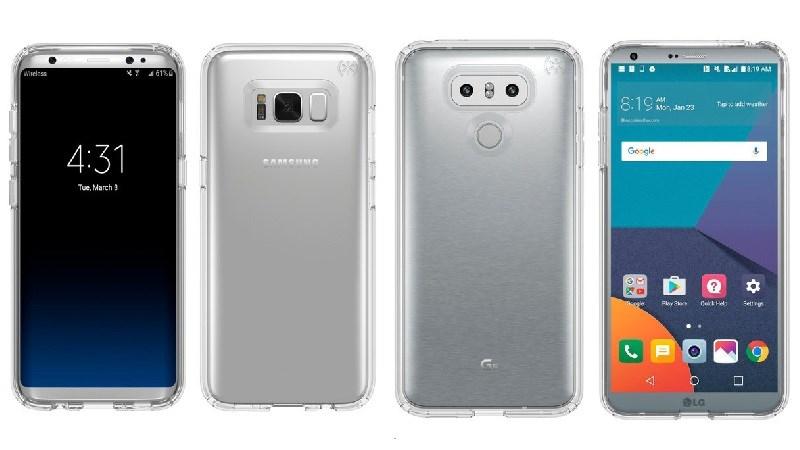 Lộ ảnh Galaxy S8 đặt cạnh LG G6, ai đẹp hơn?