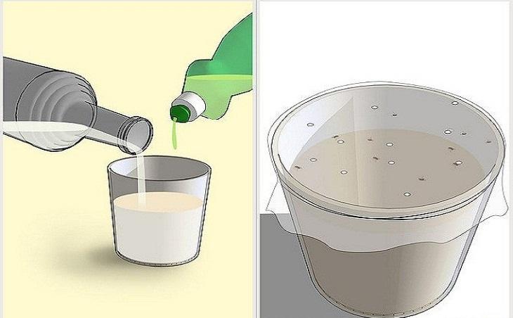 Sử dụng dung dịch giấm pha xà phòng rửa chén