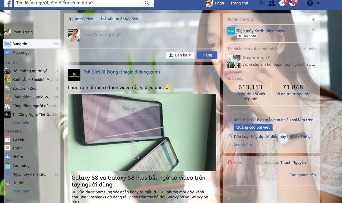 Tùy biến giao diện Facebook PC theo phong cách riêng