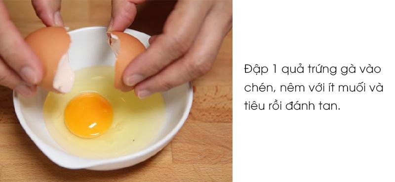 cách làm mì gói xào trứng