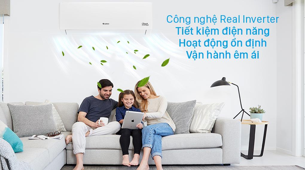 Công nghệ tiết kiệm điện Real Inverter trên máy lạnh Gree