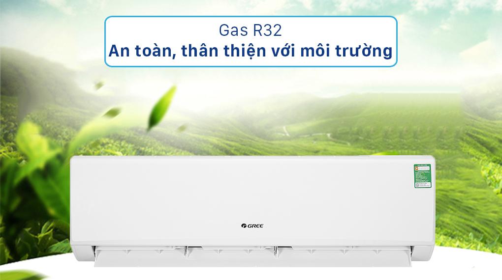 Sử dụng gas R32 thân thiện với môi trường trên máy lạnh Gree