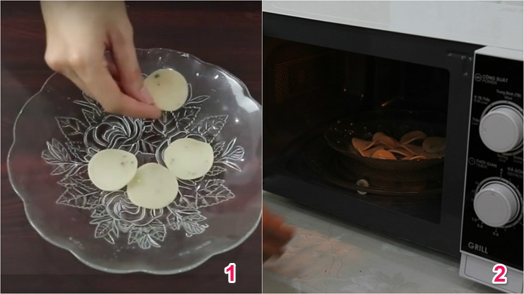 Hướng dẫn cách chiên bánh phồng tôm không cần dầu bằng lò vi sóng