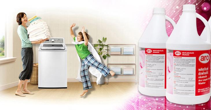 Nước giặt giúp giặt được lượng đồ nhiều hơn