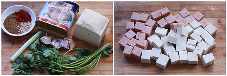 Cách làm đậu hũ xóc thịt heo hộp 1