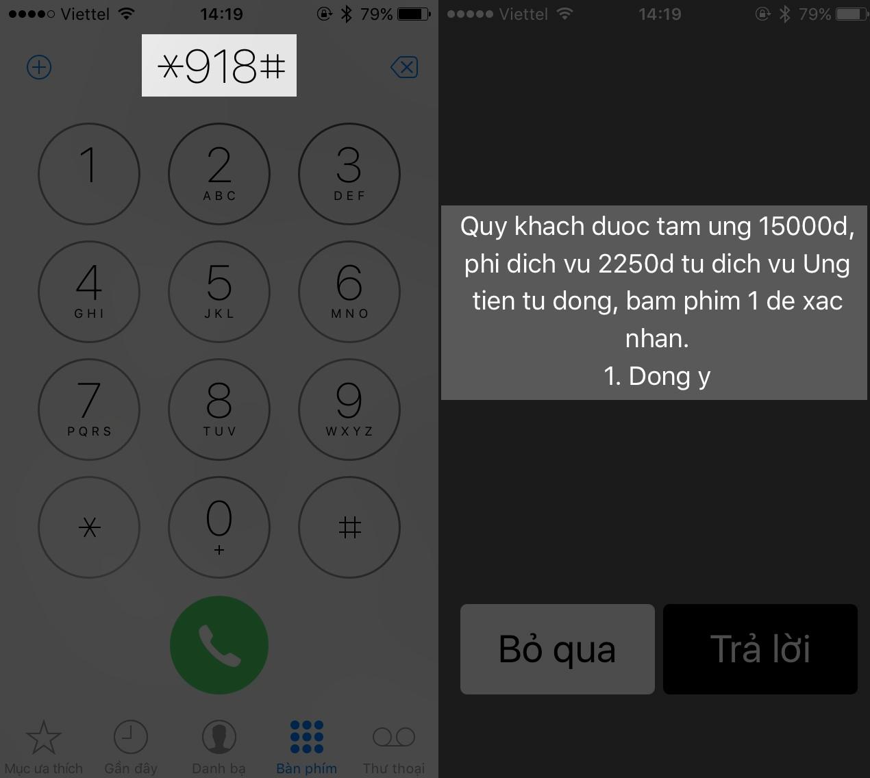 Cách ứng tiền lên tới 100.000 Đồng cho sim Viettel