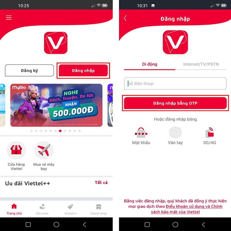 Cách ứng tiền Viettel