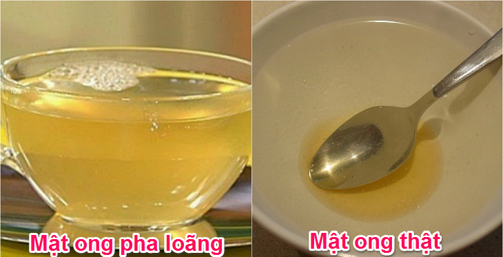 Cách nhận biết mật ong thật bằng nước