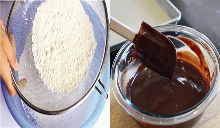 Làm bột bánh quy socola