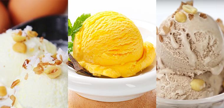 Tổng hợp 3 món kem ngon tuyệt làm bằng máy xay sinh tố