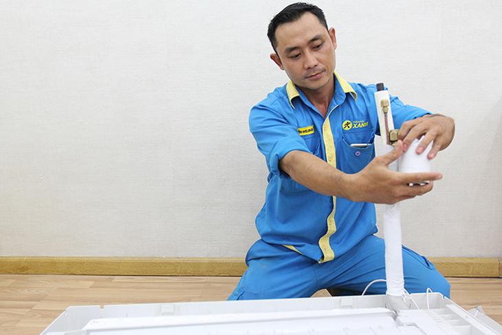 kích thước ống đồng khi lắp đặt đối với máy lạnh