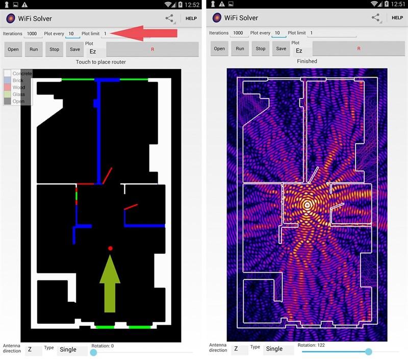 ứng dụng mô phỏng WiFi Solver FDTD