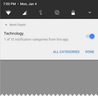 Người dùng có thể tùy thích gộp các thông báo lại chung với nhau