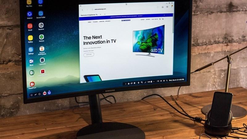Samsung DeX, chiếc phụ kiện biến Galaxy S8 thành máy tính để bàn